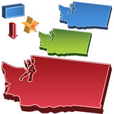 Washington State Map Royalty Free Stock Photography