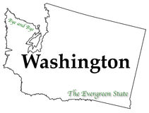 Washington State Motto et slogan Images stock