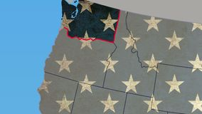 Washington state pull out, smooth USA map, all states available. Stock footage stock video footage