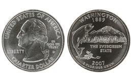 Washington State Quarter coin Stock Photos