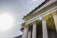 Washington State`s grand capitol building in Olympia, Washington. stock photography