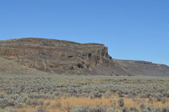 Washington State Scenery. On Highway #2 through central Washington on a hot summer day Stock Photo