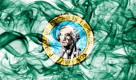 Washington state smoke flag, United States Of America.  royalty free stock images
