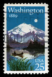 Washington Statehood US Postage Stamp Stock Photo