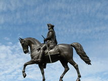 Washington Statue. George Washington statue in Boston against the sky background stock photo