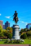 Washington Statue bij de Openbare Tuin van Boston stock fotografie