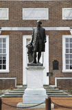 Washington Statue. In front of Independence Hall stock photos
