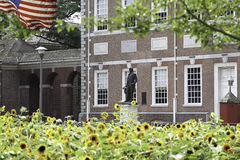 Washington Statue in front of Independence Hall Stock Images
