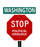 Washington Stopp Political Gridlock Sign Lizenzfreie Stockbilder