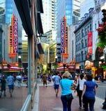 Washington Street Theater District in Boston Stockfotos