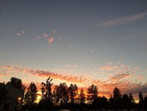 Washington Sunset Royalty-vrije Stock Foto's