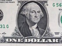 Washington sur la note du 1 dollar, Etats-Unis Photos stock
