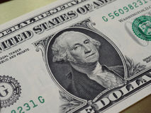 Washington sur la note du 1 dollar, Etats-Unis Image libre de droits