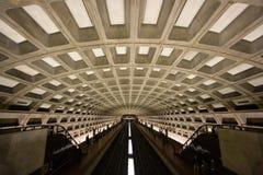 Washington, túnel del metro de la C.C. Imágenes de archivo libres de regalías