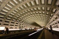 Washington, túnel del metro de la C.C. Fotografía de archivo