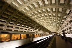 Washington, túnel del metro de la C.C. Foto de archivo
