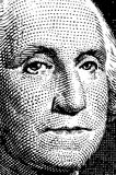 Washington trace from $1 bill Royalty Free Stock Images