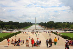 NationalMall out of the Lincoln Memorial Royalty Free Stock Photography