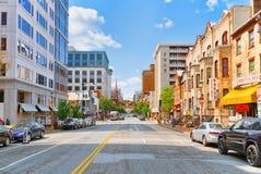 Washington, U.S.A., paesaggio urbano urbano della città Distretto del centro immagini stock