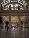 Washington Union Station - The central station with people passing by, 2008 Royalty Free Stock Photo