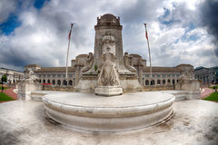 Washington union station exterior view from fountain Royalty Free Stock Image