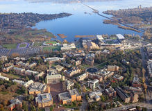 Washington University. Aerial view of Washington University in Seattle and the University District Stock Photo