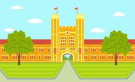 Washington University i St Louis - illustration Arkivbilder