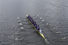 Washington University races in the Head of Charles Regatta Stock Photography
