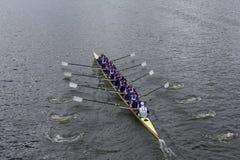 Washington University springer i huvudet av Charles Regatta Arkivbild