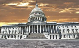 Washington US Capitol on dramatic sky background Stock Photography