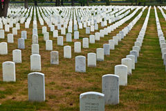Graves at Arlington national Cemetery in Washington Royalty Free Stock Images