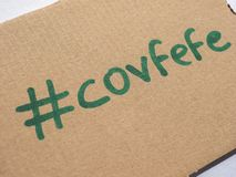 Covfefe, a new word invented by President Trump Royalty Free Stock Photos