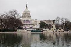 Washington USA Januari 21st, 2017 Mars för kvinna` s på Washington Arkivbilder