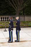 Changing of the guard at the tomb of the unknown soldier at Arlington national Cemetery in Washington D.C. Royalty Free Stock Photography