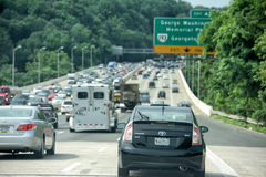 WASHINGTON, USA JUNE, 22 2015 congested highway Royalty Free Stock Photos