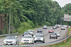 WASHINGTON, USA JUNE, 22 2015 congested highway Stock Images