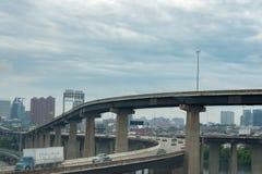 WASHINGTON, USA - JUNE, 23 2016 Maryland congested highway on rainy day Royalty Free Stock Image