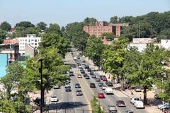 Suburbs of Washington DC. WASHINGTON, USA - JUNE 15, 2013: People drive in Eckington and Edgwood suburbs of Washington, DC. With 646,449 people Washington DC is royalty free stock images
