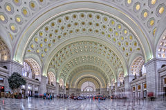 WASHINGTON, USA - JUNE 24 2016 - washington dc union station internal view on busy hour Royalty Free Stock Photo