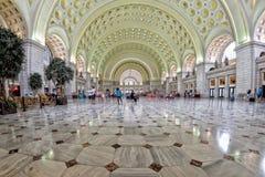 WASHINGTON, USA - 24. Juni 2016 - interne Ansicht der Washington-DC-Verbandsstation über beschäftigte Stunde Lizenzfreie Stockfotografie