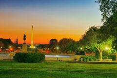 Washington USA, Washington Monument är en obelisk på nationen Royaltyfri Fotografi