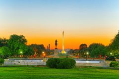 Washington USA, Washington Monument är en obelisk på nationen Royaltyfri Bild