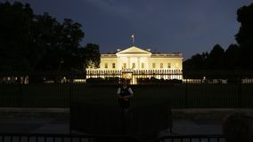Washington USA, September 2016 Vita Huset på natten - Washington DC, Förenta staterna royaltyfri fotografi