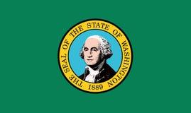 Washington USA statflagga arkivfoton