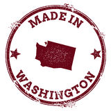 Washington vector seal. Vintage USA state map stamp. Grunge rubber stamp with Made in Washington text and USA state map, vector illustration Stock Photos