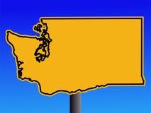 Washington warning sign Royalty Free Stock Image