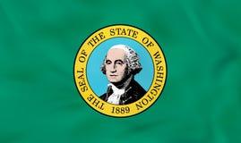 Washington Waving Flag Textura del fondo de la bandera del estado de Washington ilustración del vector