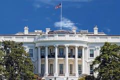 Washington White House på solig dag Arkivbilder