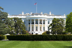 Washington White House på solig dag Arkivfoton