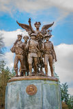 Washington Winged Victory Monument. Olympia, Washington, USA - March 24, 2016: The Winged Victory Monument in Olympia, Washington, honors those who served in Royalty Free Stock Photography